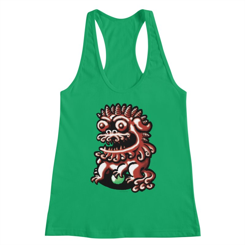 Squirmish Card A66: FOO DOG Women's Tank by STWALLSKULL's Shirt Shack