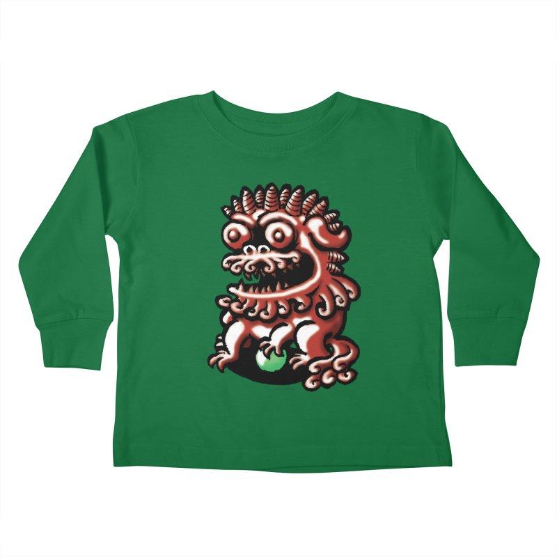 Squirmish Card A66: FOO DOG Kids Toddler Longsleeve T-Shirt by STWALLSKULL's Shirt Shack