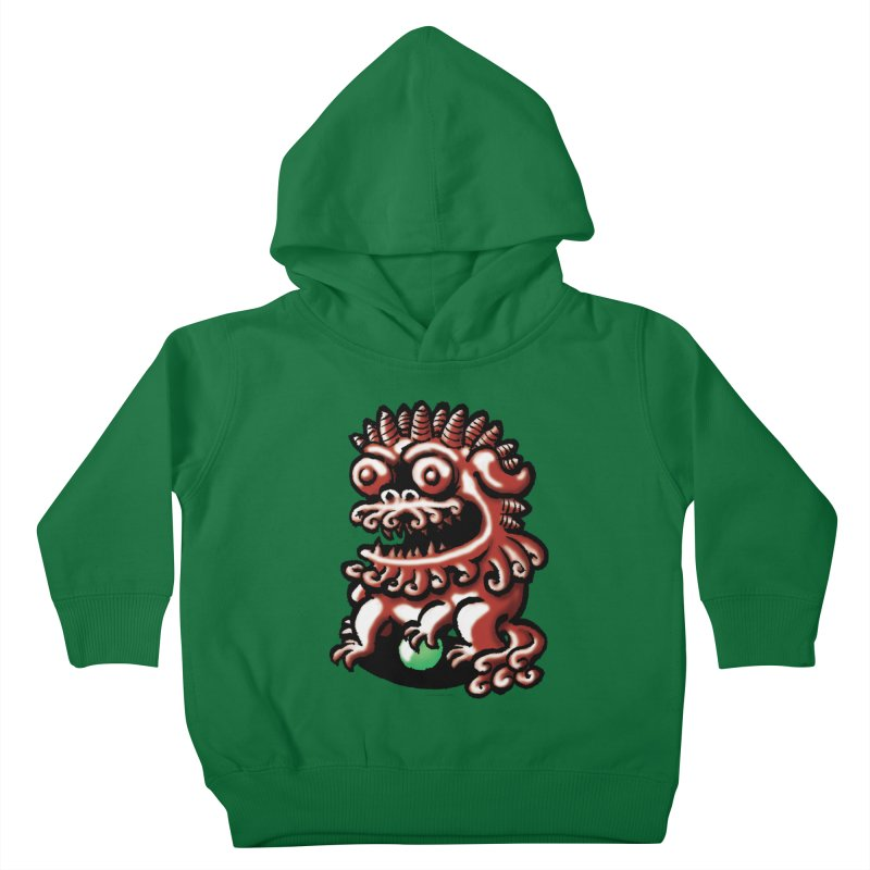 Squirmish Card A66: FOO DOG Kids Toddler Pullover Hoody by STWALLSKULL's Shirt Shack