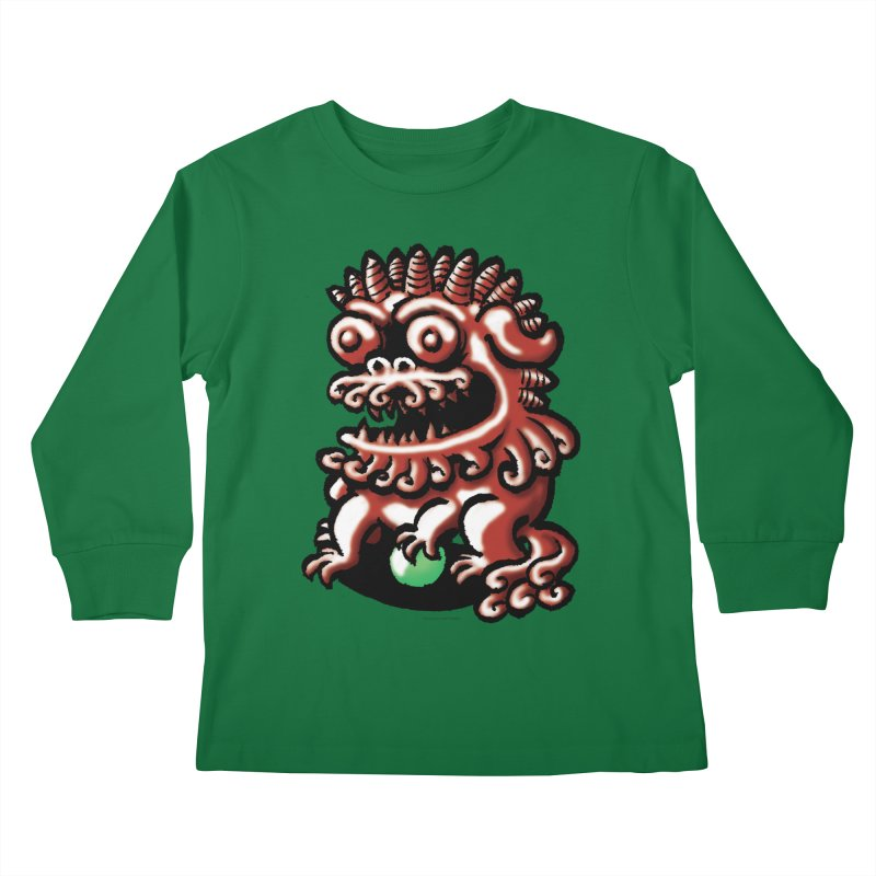 Squirmish Card A66: FOO DOG Kids Longsleeve T-Shirt by STWALLSKULL's Shirt Shack