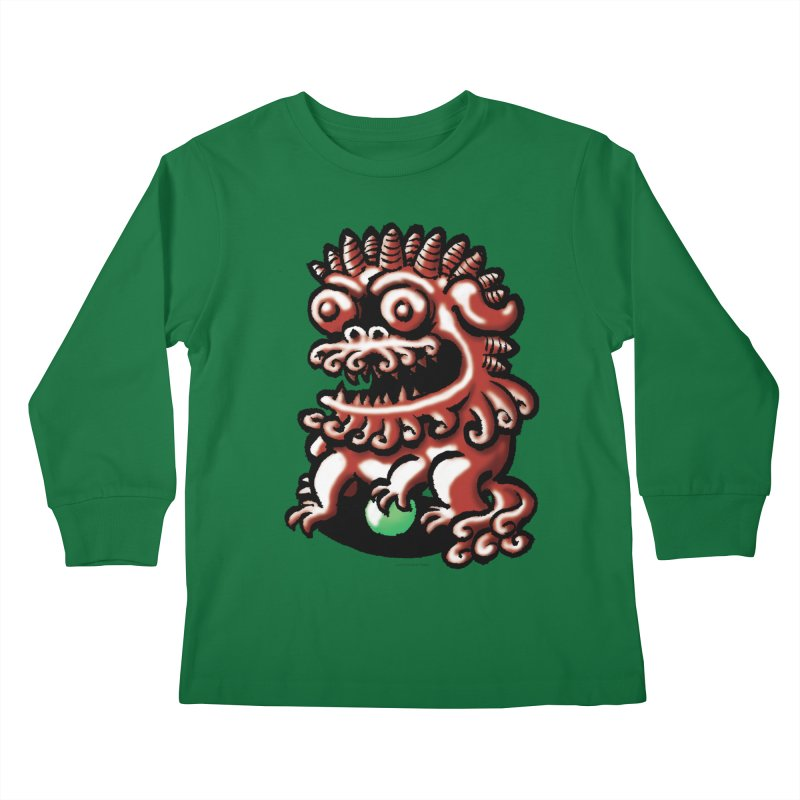 Squirmish Card A66: FOO DOG Kids Longsleeve T-Shirt by STWALLSKULL's Shirt Shack
