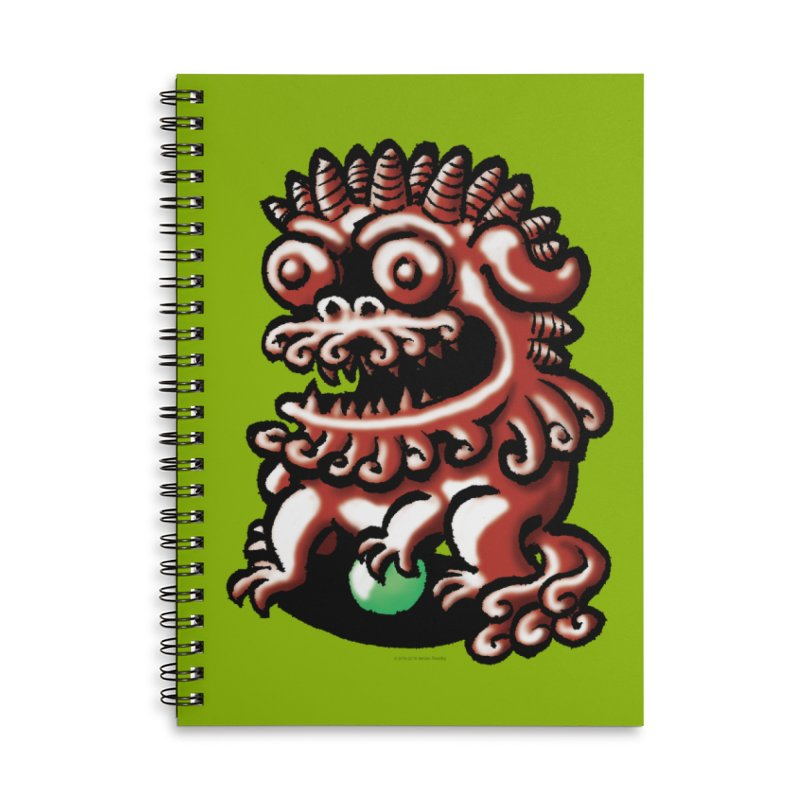 Squirmish Card A66: FOO DOG Accessories Lined Spiral Notebook by STWALLSKULL's Shirt Shack