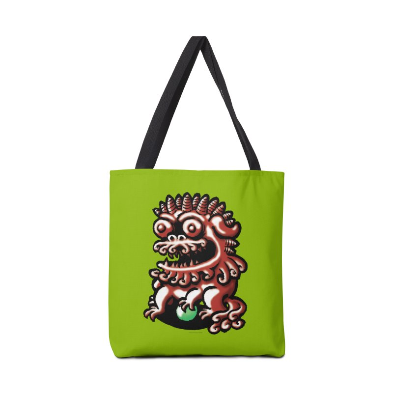 Squirmish Card A66: FOO DOG Accessories Tote Bag Bag by STWALLSKULL's Shirt Shack