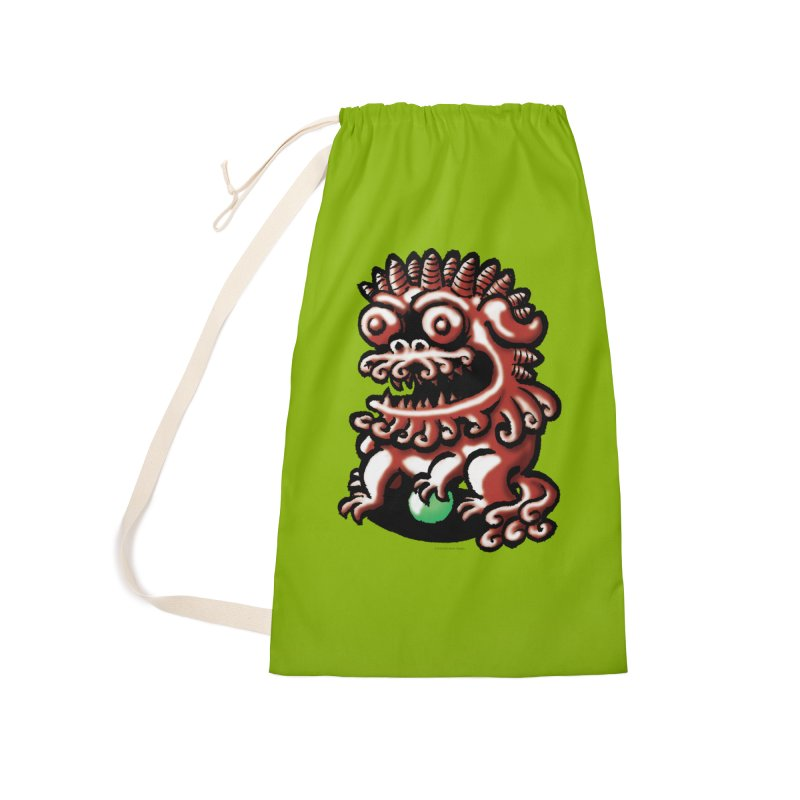 Squirmish Card A66: FOO DOG Accessories Laundry Bag Bag by STWALLSKULL's Shirt Shack