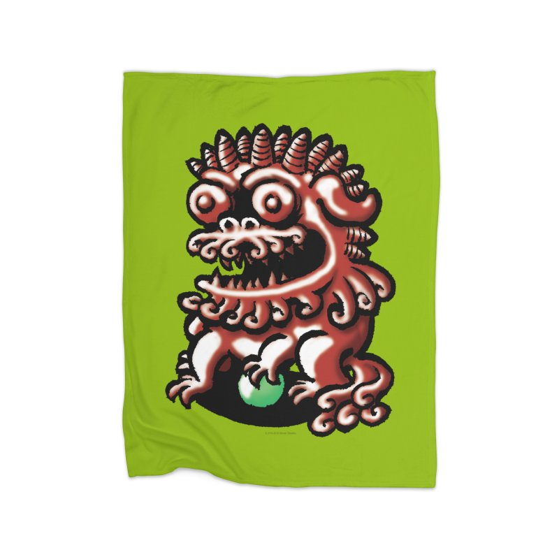 Squirmish Card A66: FOO DOG Home Blanket by STWALLSKULL's Shirt Shack