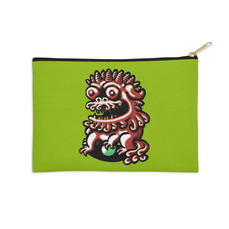 Squirmish Card A66: FOO DOG Accessories Zip Pouch by STWALLSKULL's Shirt Shack