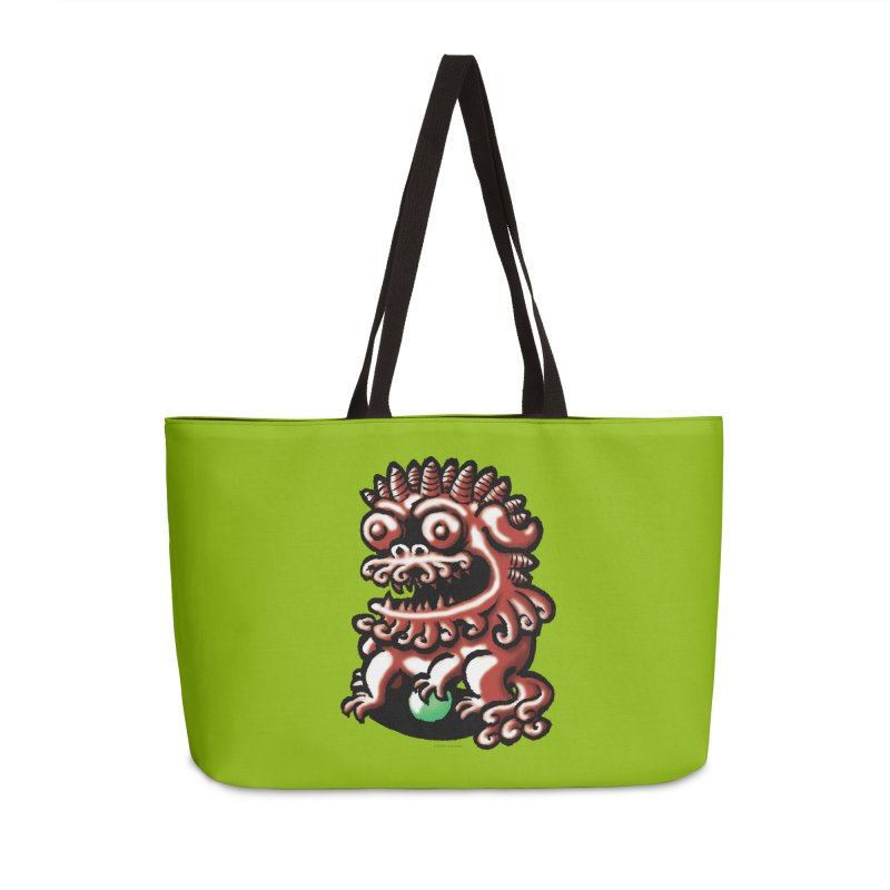 Squirmish Card A66: FOO DOG Accessories Weekender Bag Bag by STWALLSKULL's Shirt Shack