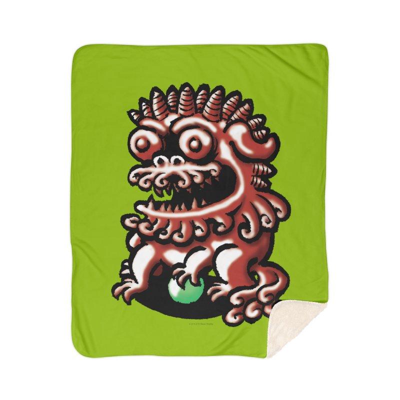 Squirmish Card A66: FOO DOG Home Blanket by STWALLSKULL's Shirt Shack
