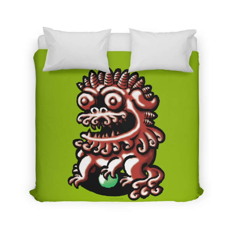 Squirmish Card A66: FOO DOG Home Duvet by STWALLSKULL's Shirt Shack