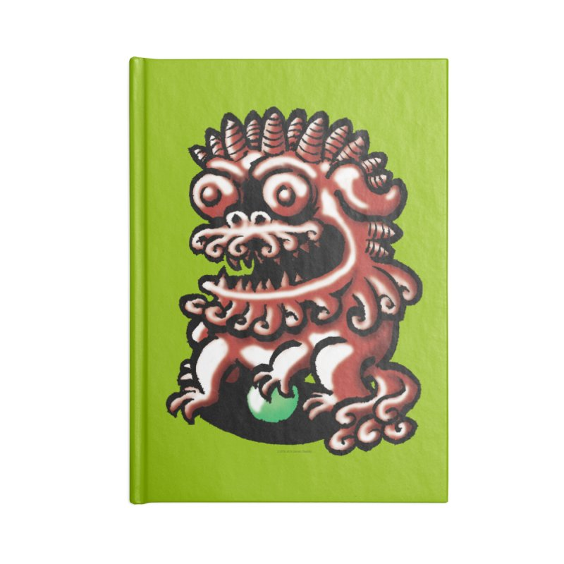 Squirmish Card A66: FOO DOG Accessories Lined Journal Notebook by STWALLSKULL's Shirt Shack