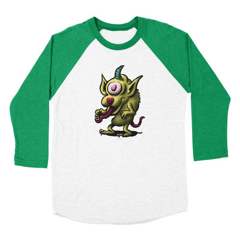 Squirmish Card A67: UNO OJO Men's Baseball Triblend Longsleeve T-Shirt by STWALLSKULL's Shirt Shack