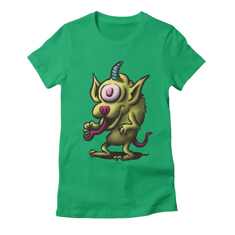 Squirmish Card A67: UNO OJO Women's Fitted T-Shirt by STWALLSKULL's Shirt Shack