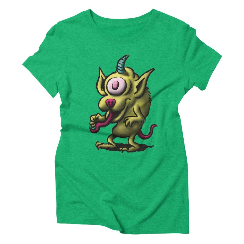 Squirmish Card A67: UNO OJO Women's Triblend T-Shirt by STWALLSKULL's Shirt Shack