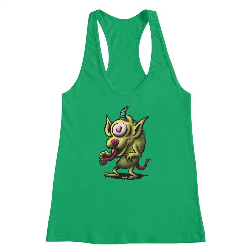 Squirmish Card A67: UNO OJO Women's Racerback Tank by STWALLSKULL's Shirt Shack