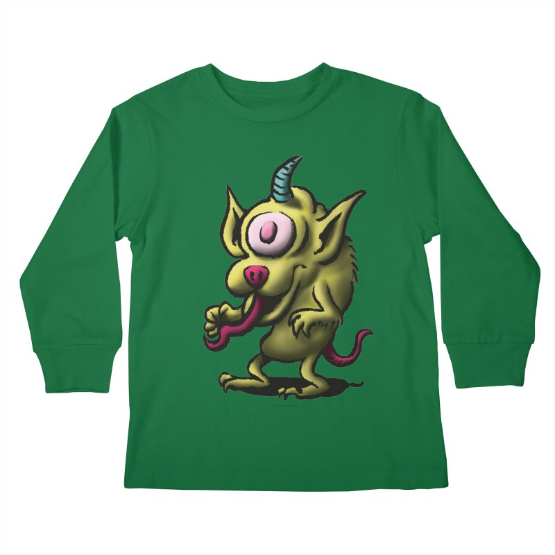 Squirmish Card A67: UNO OJO Kids Longsleeve T-Shirt by STWALLSKULL's Shirt Shack