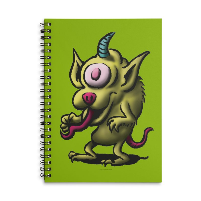 Squirmish Card A67: UNO OJO Accessories Lined Spiral Notebook by STWALLSKULL's Shirt Shack