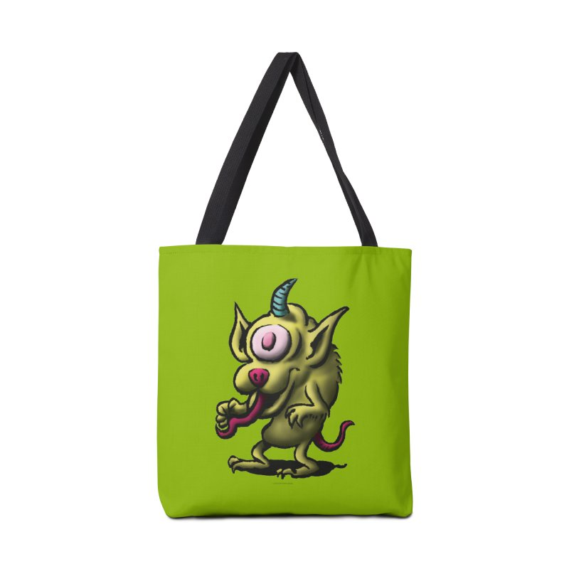 Squirmish Card A67: UNO OJO Accessories Tote Bag Bag by STWALLSKULL's Shirt Shack