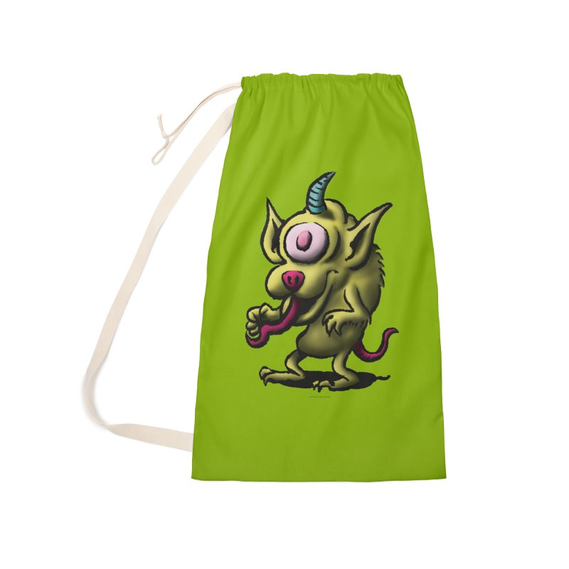 Squirmish Card A67: UNO OJO Accessories Laundry Bag Bag by STWALLSKULL's Shirt Shack