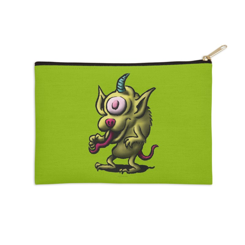 Squirmish Card A67: UNO OJO Accessories Zip Pouch by STWALLSKULL's Shirt Shack
