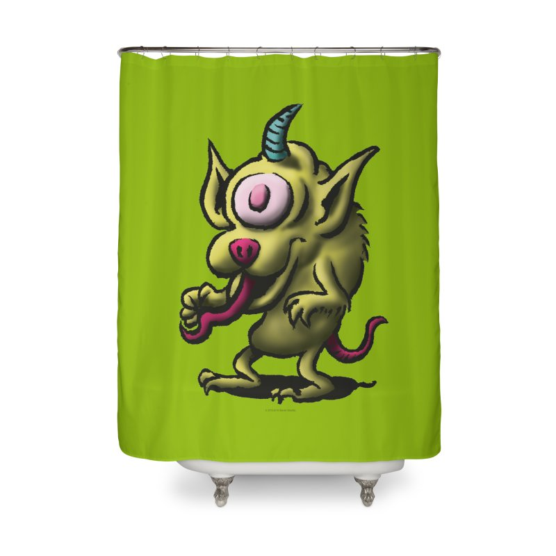 Squirmish Card A67: UNO OJO Home Shower Curtain by STWALLSKULL's Shirt Shack