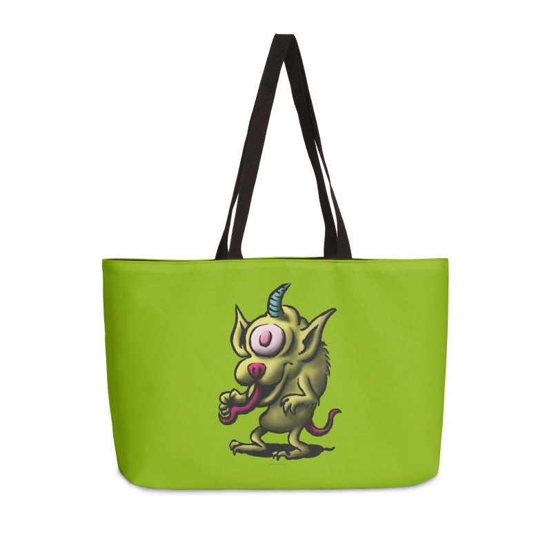 Squirmish Card A67: UNO OJO Accessories Weekender Bag Bag by STWALLSKULL's Shirt Shack