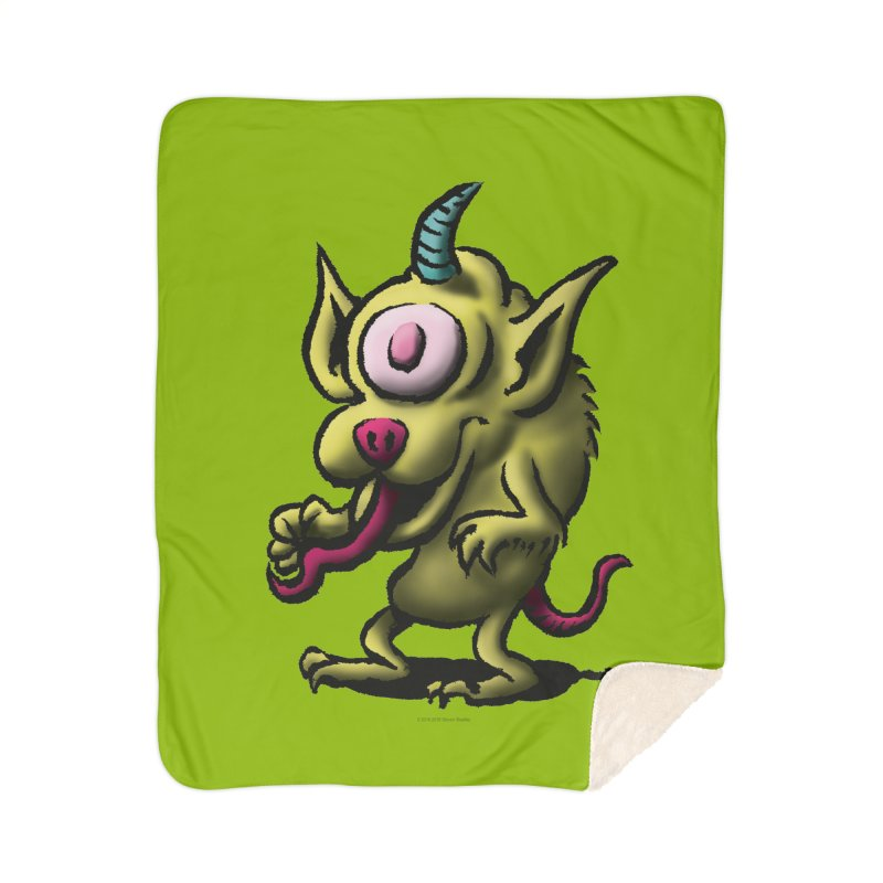 Squirmish Card A67: UNO OJO Home Sherpa Blanket Blanket by STWALLSKULL's Shirt Shack