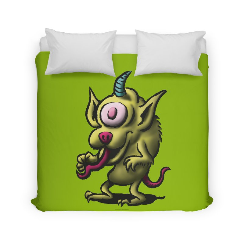 Squirmish Card A67: UNO OJO Home Duvet by STWALLSKULL's Shirt Shack