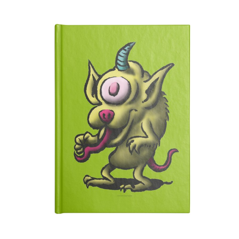 Squirmish Card A67: UNO OJO Accessories Lined Journal Notebook by STWALLSKULL's Shirt Shack