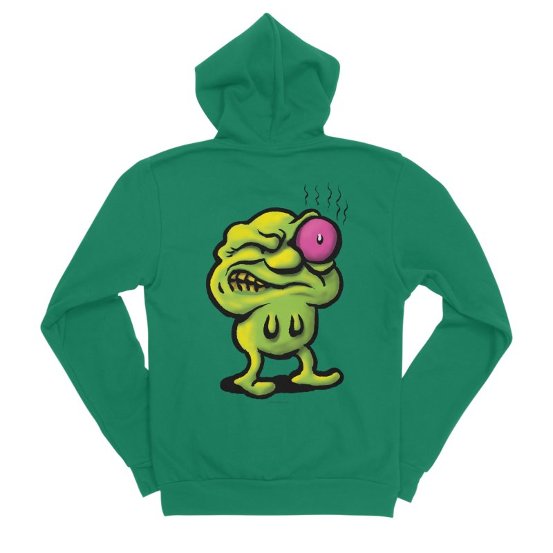 Squirmish Card A68: STINKEYE Women's Sponge Fleece Zip-Up Hoody by STWALLSKULL's Shirt Shack