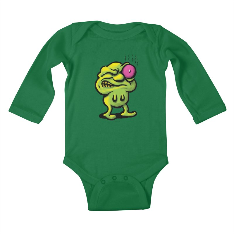 Squirmish Card A68: STINKEYE Kids Baby Longsleeve Bodysuit by STWALLSKULL's Shirt Shack