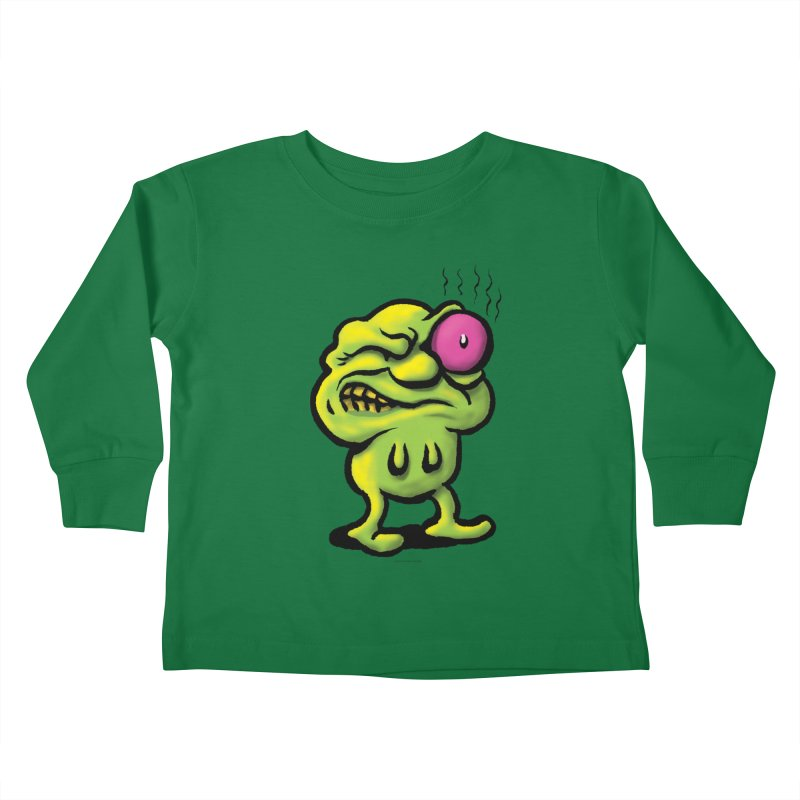 Squirmish Card A68: STINKEYE Kids Toddler Longsleeve T-Shirt by STWALLSKULL's Shirt Shack