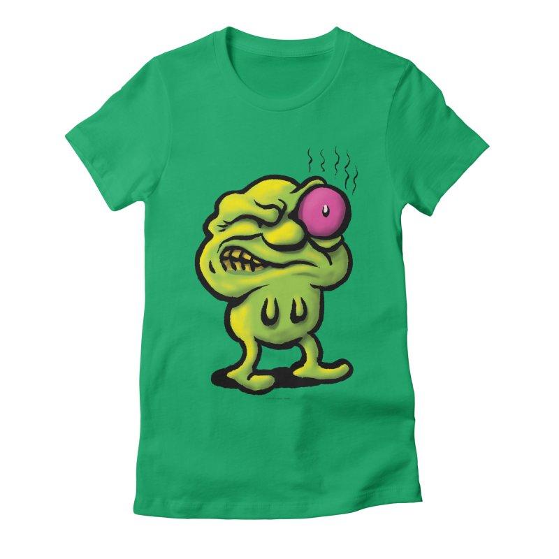 Squirmish Card A68: STINKEYE Women's Fitted T-Shirt by STWALLSKULL's Shirt Shack