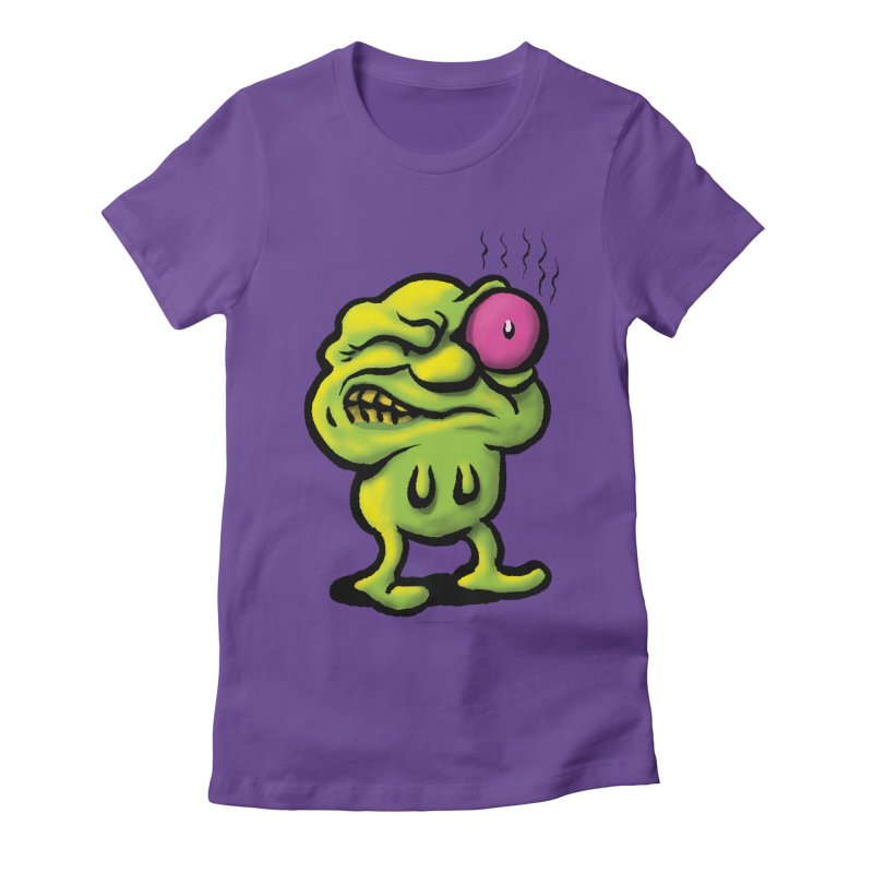 Squirmish Card A68: STINKEYE Women's Fitted T-Shirt by STWALLSKULL's Shirt Shack