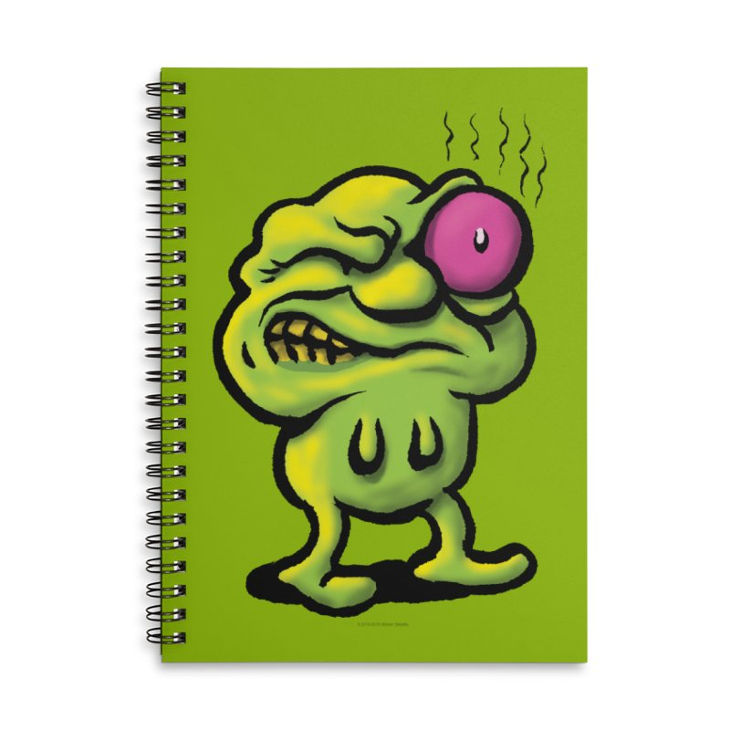 Squirmish Card A68: STINKEYE Accessories Lined Spiral Notebook by STWALLSKULL's Shirt Shack