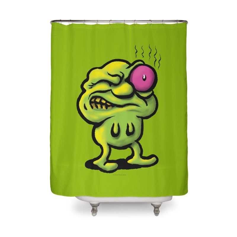 Squirmish Card A68: STINKEYE Home Shower Curtain by STWALLSKULL's Shirt Shack