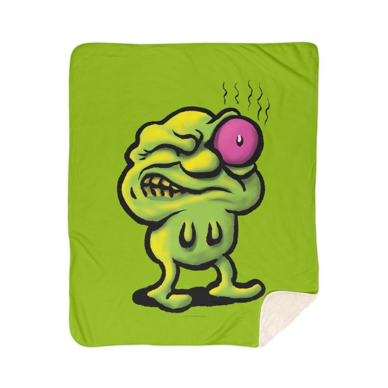 Squirmish Card A68: STINKEYE Home Sherpa Blanket Blanket by STWALLSKULL's Shirt Shack