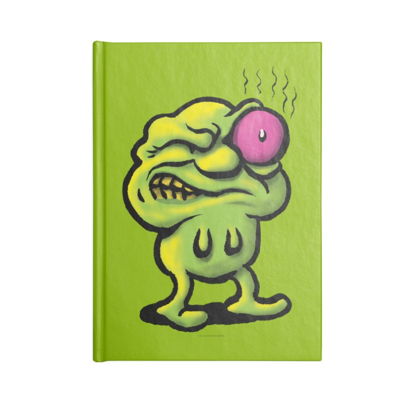 Squirmish Card A68: STINKEYE Accessories Blank Journal Notebook by STWALLSKULL's Shirt Shack