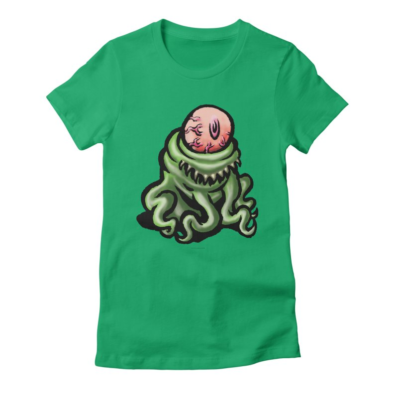 Squirmish Card A69: PINKEYE Women's Fitted T-Shirt by STWALLSKULL's Shirt Shack