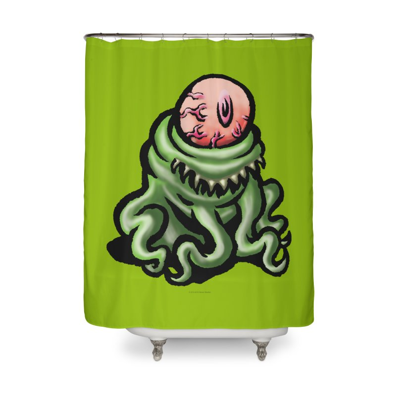 Squirmish Card A69: PINKEYE Home Shower Curtain by STWALLSKULL's Shirt Shack