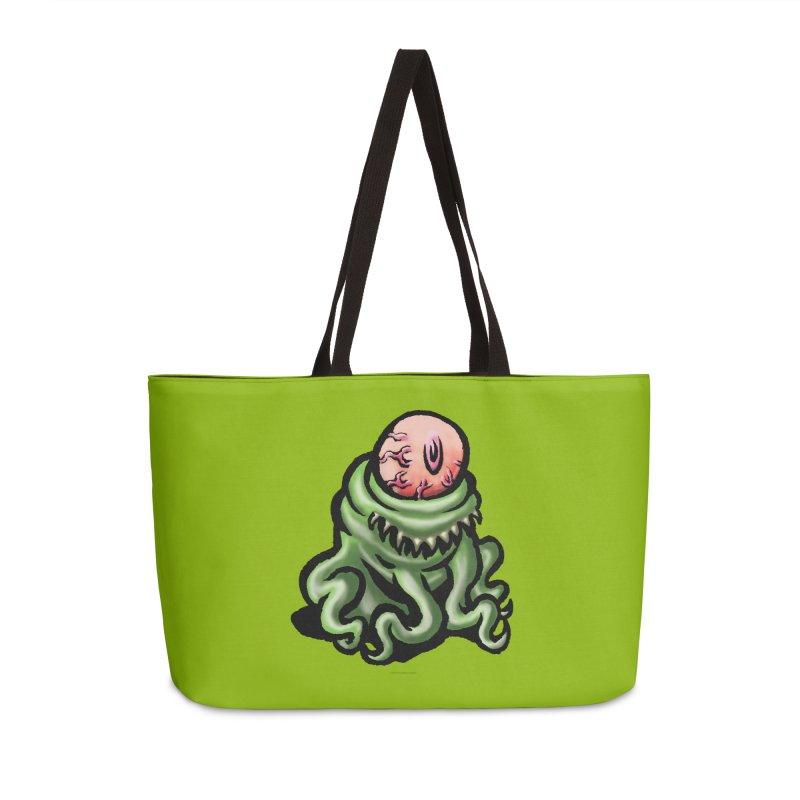 Squirmish Card A69: PINKEYE Accessories Weekender Bag Bag by STWALLSKULL's Shirt Shack
