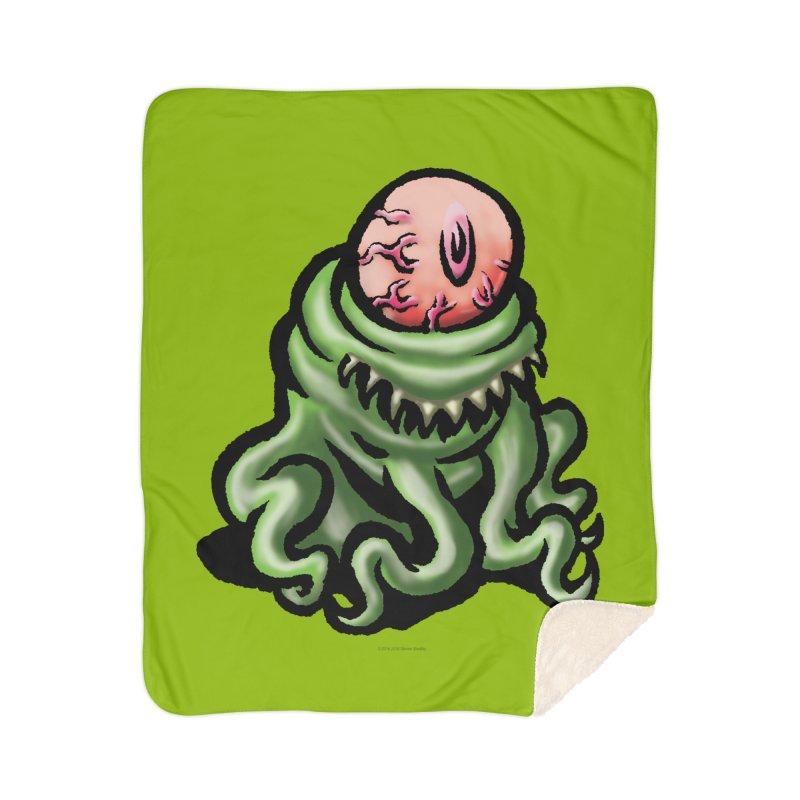 Squirmish Card A69: PINKEYE Home Sherpa Blanket Blanket by STWALLSKULL's Shirt Shack