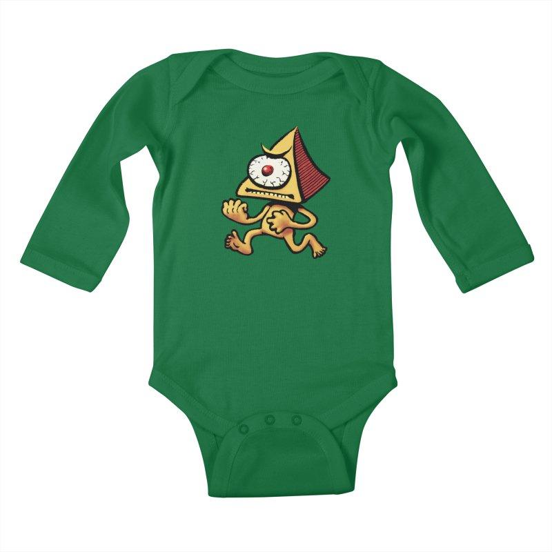 Squirmish Card A70: LOU MINETTI Kids Baby Longsleeve Bodysuit by STWALLSKULL's Shirt Shack