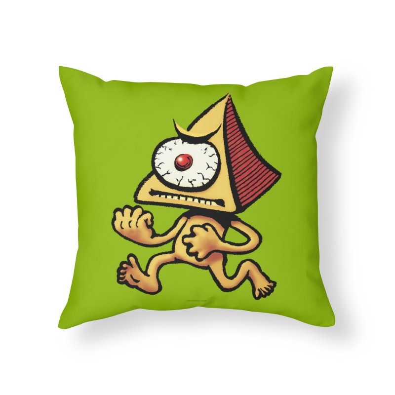 Squirmish Card A70: LOU MINETTI Home Throw Pillow by STWALLSKULL's Shirt Shack
