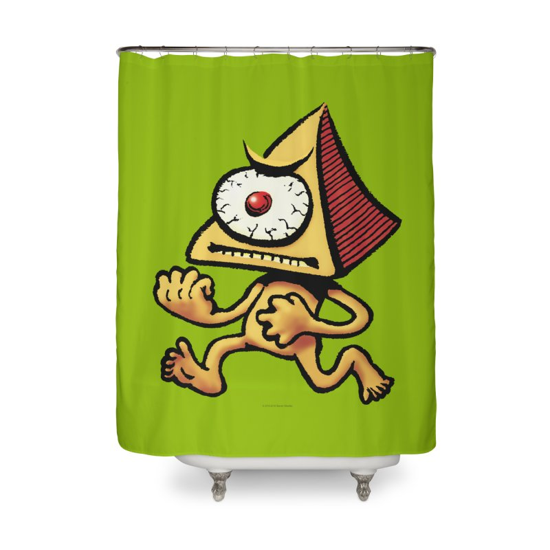 Squirmish Card A70: LOU MINETTI Home Shower Curtain by STWALLSKULL's Shirt Shack