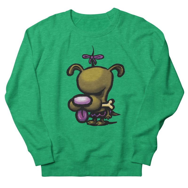 Squirmish Card B01: DOLLY BISCUIT Women's French Terry Sweatshirt by STWALLSKULL's Shirt Shack