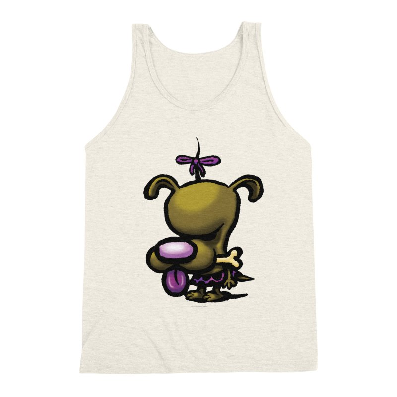 Squirmish Card B01: DOLLY BISCUIT Men's Triblend Tank by STWALLSKULL's Shirt Shack
