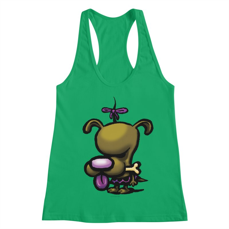 Squirmish Card B01: DOLLY BISCUIT Women's Racerback Tank by STWALLSKULL's Shirt Shack