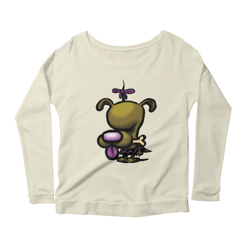 Squirmish Card B01: DOLLY BISCUIT Women's Scoop Neck Longsleeve T-Shirt by STWALLSKULL's Shirt Shack
