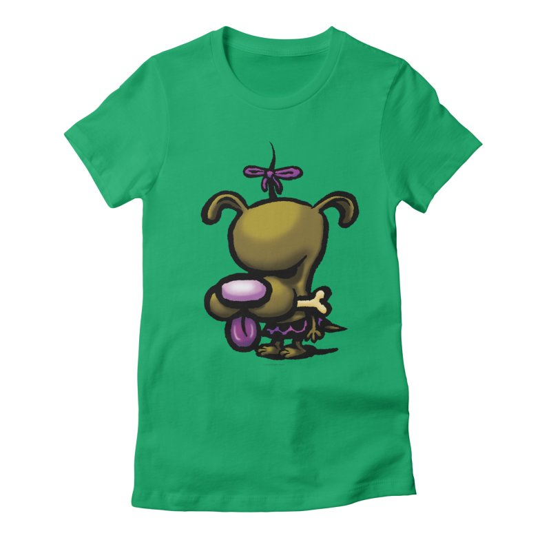 Squirmish Card B01: DOLLY BISCUIT Women's Fitted T-Shirt by STWALLSKULL's Shirt Shack