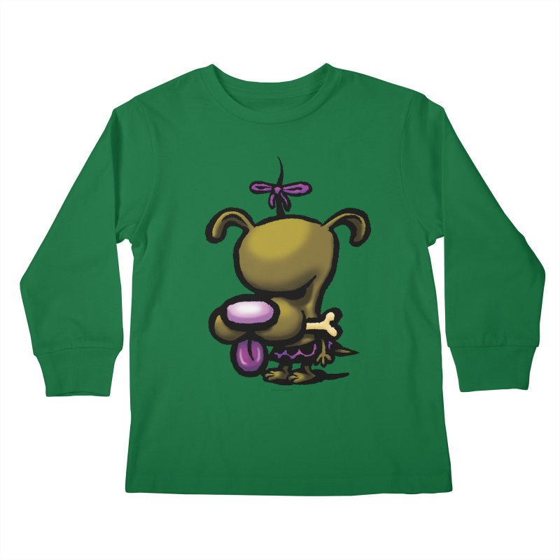 Squirmish Card B01: DOLLY BISCUIT Kids Longsleeve T-Shirt by STWALLSKULL's Shirt Shack